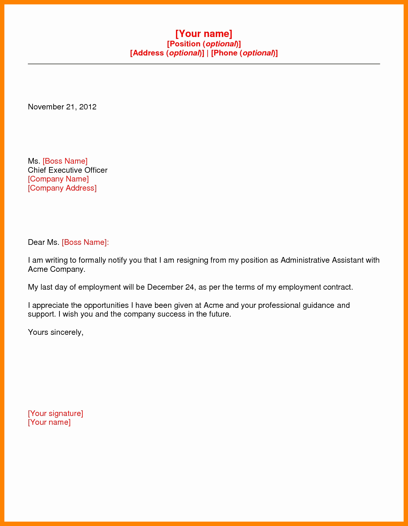 Letter Of Resignation Template Microsoft Awesome 6 Microsoft Word Resignation Letter