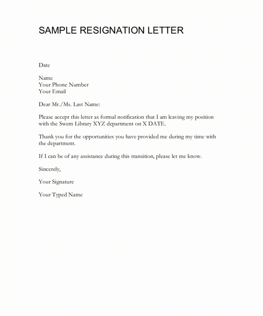 Letter Of Resignation Template Microsoft Awesome How to Write A Resignation Letter Template Free Word