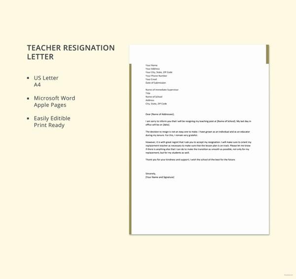 Letter Of Resignation Template Microsoft Elegant 12 formal Resignation Letter Template Free Word Excel