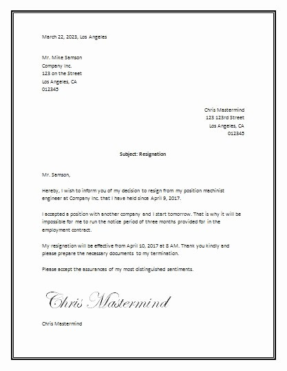 Letter Of Resignation Template Microsoft Lovely Sample Resignation Letter Template Word