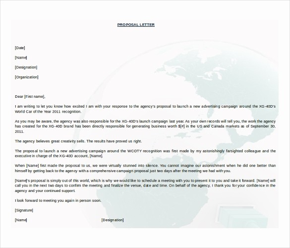 Letter Template for Microsoft Word Elegant 31 Free Proposal Templates Word
