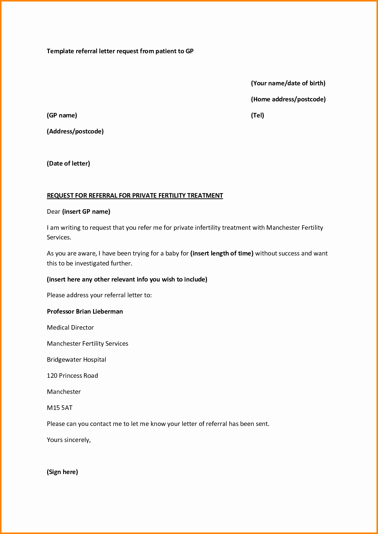Letter Template for Microsoft Word Inspirational Medical Referral Letter Template Microsoft Word