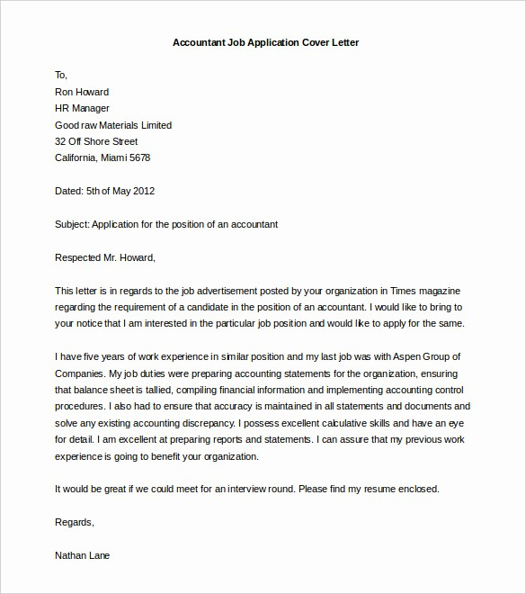 Letter Template for Microsoft Word Lovely Cover Letter Printable Templates