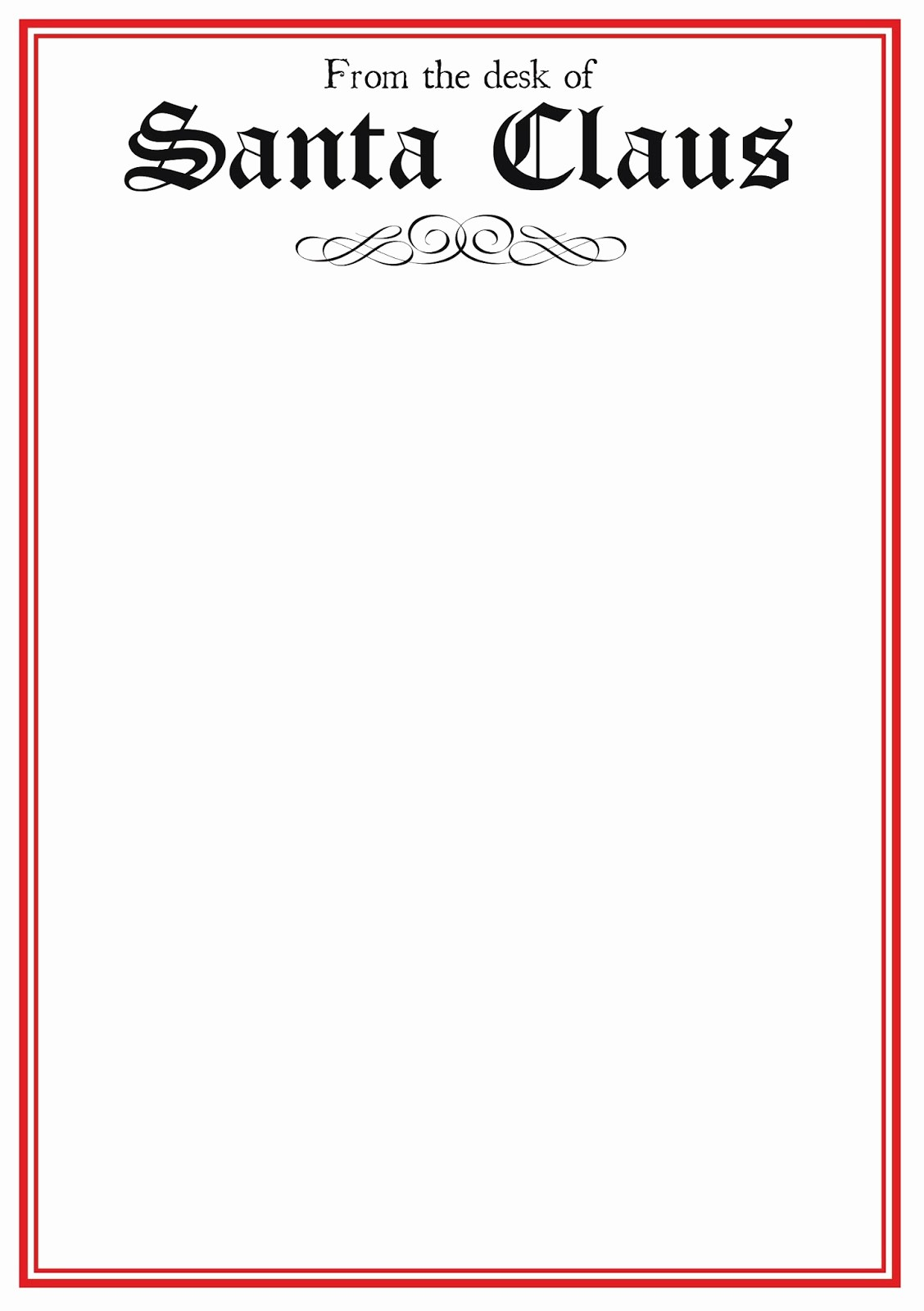 Letter Template for Microsoft Word Unique Free Printable Letter From Santa Template Word Collection