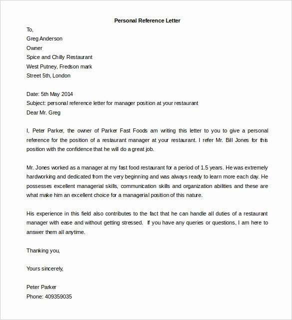 Letter Template for Microsoft Word Unique Free Reference Letter Templates 24 Free Word Pdf