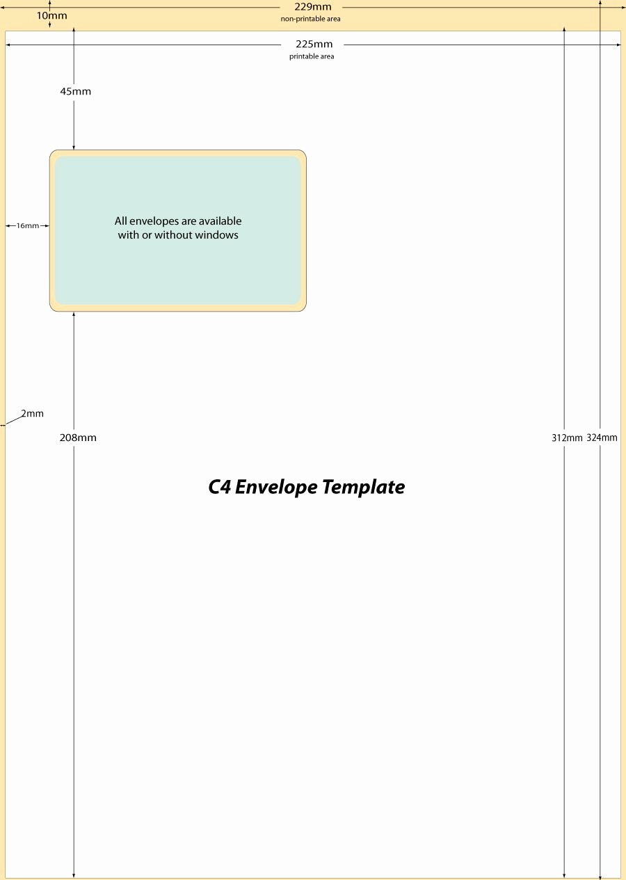Letter Template for Window Envelopes Awesome C4 Window Envelope Template Word Templates Resume