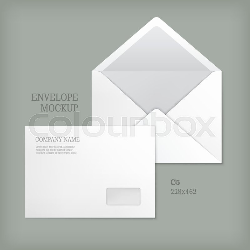 Letter Template for Window Envelopes Best Of Open and Closed White Empty Envelopes for Letters and