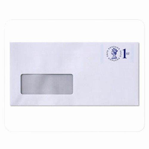 Letter Template for Window Envelopes New Envelope White Wove Window Raise Printed No 6