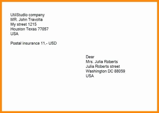 Letter Template for Window Envelopes Unique Template for Addressing Wedding Envelopes Free Mailing