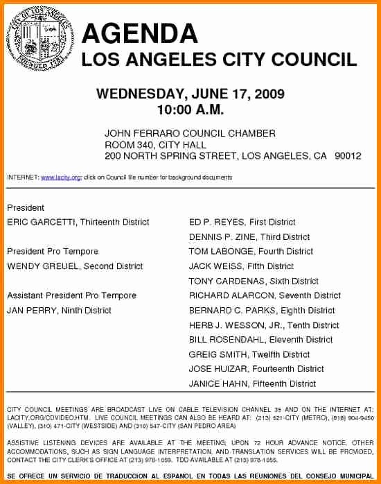 Letter to City Council Template Awesome 5 Example Of Agenda Letter