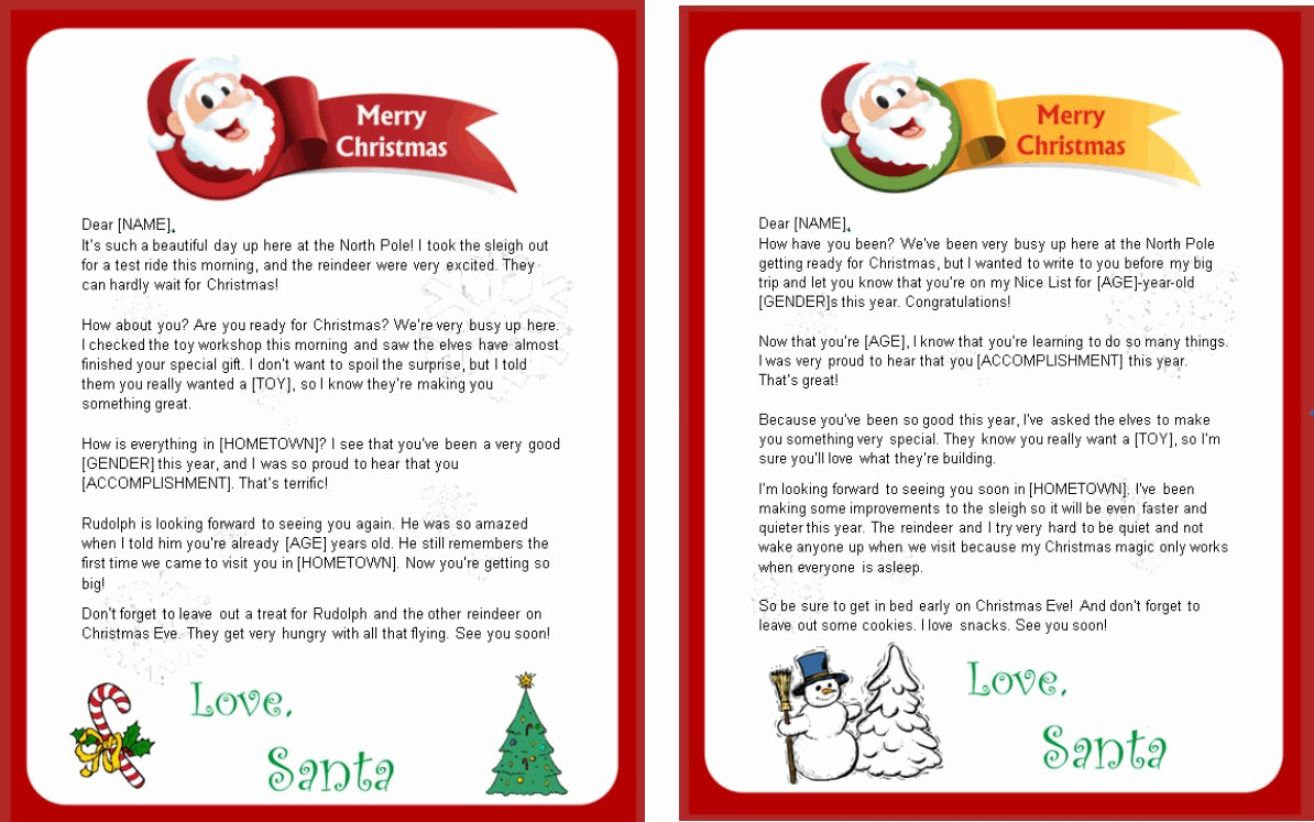 Letter to Santa Claus Templates Awesome 8 Best Of Free Printable Letters From Santa Claus
