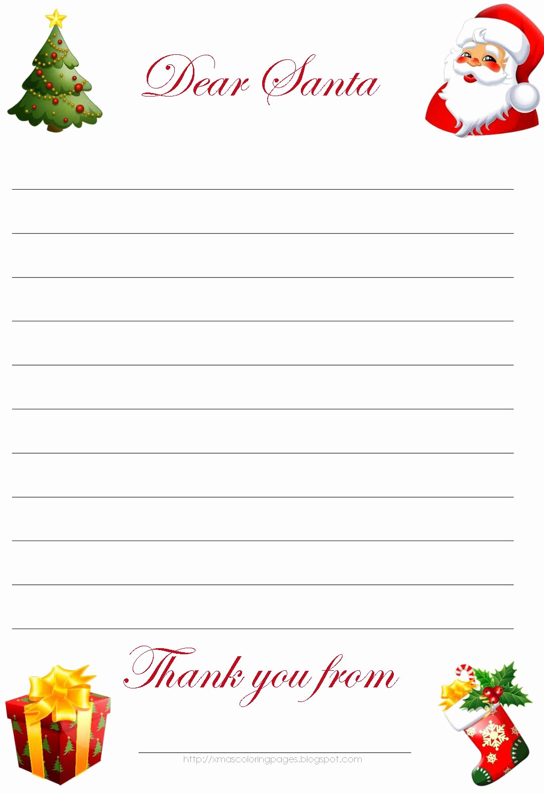 Letter to Santa Claus Templates Awesome Letter From Santa Template