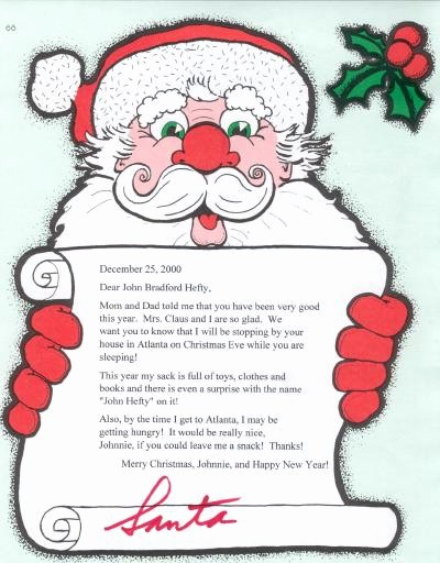 Letter to Santa Claus Templates Awesome Personalized Letters From Santa Claus