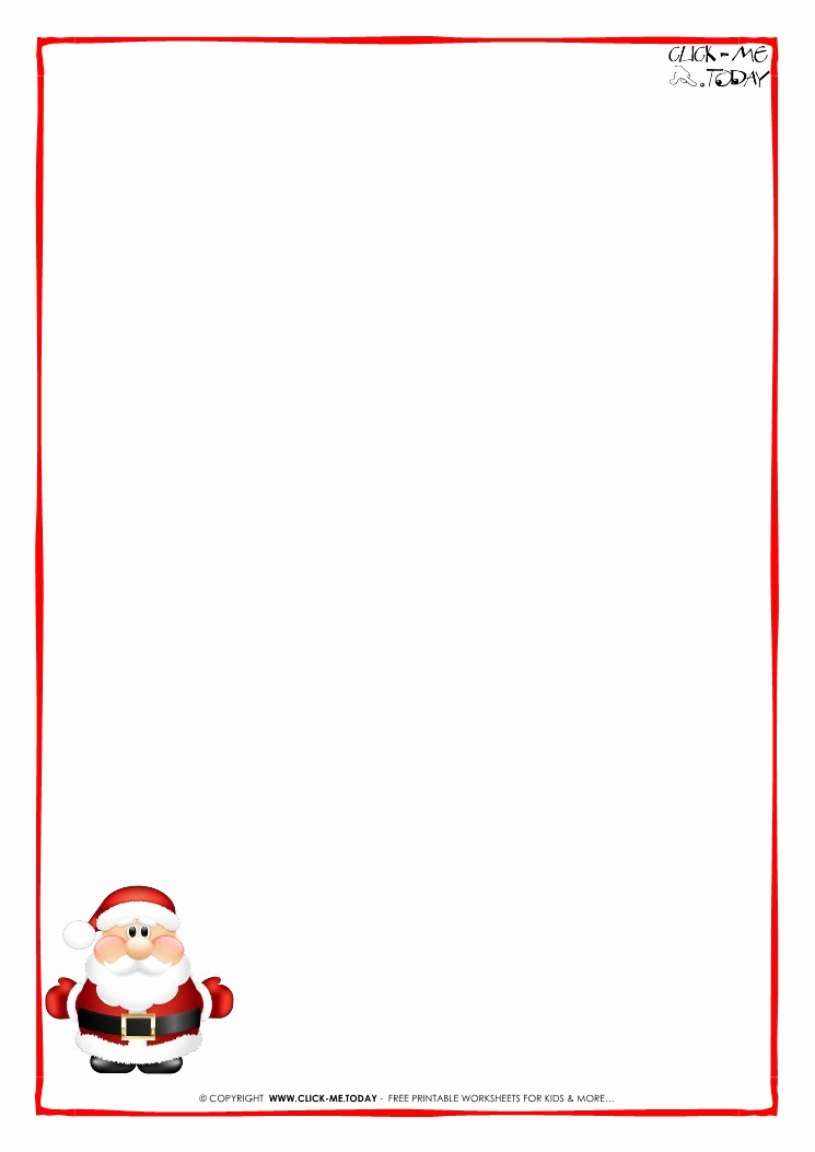 Letter to Santa Claus Templates Beautiful Letter to Santa Claus Paper Blank Template Cute Santa 6