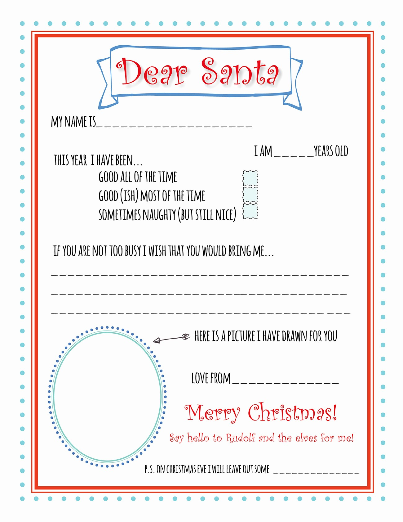 Letter to Santa Claus Templates Elegant Santa Letter Printable Template Bunny Peculiar