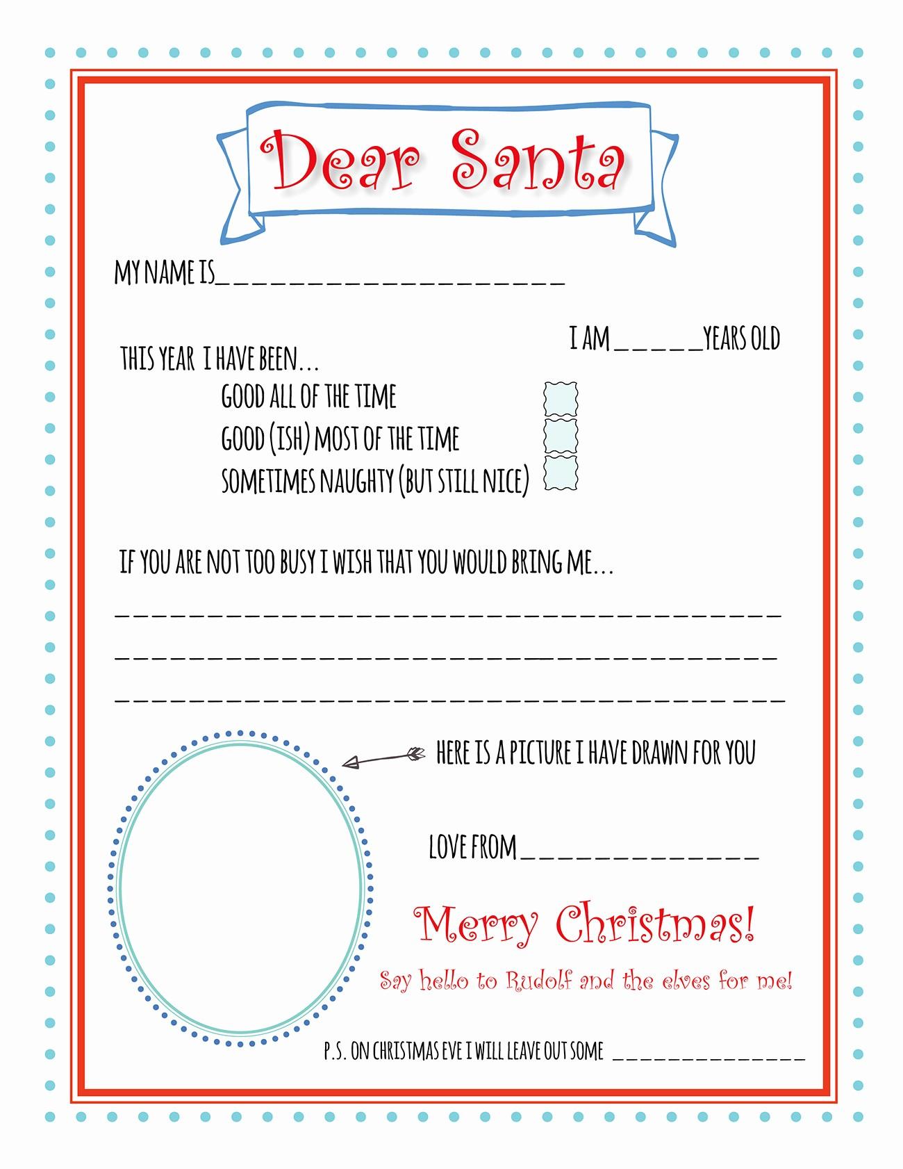 Letter to Santa Claus Templates Elegant Santa Letter Printable Template Bunny Peculiar