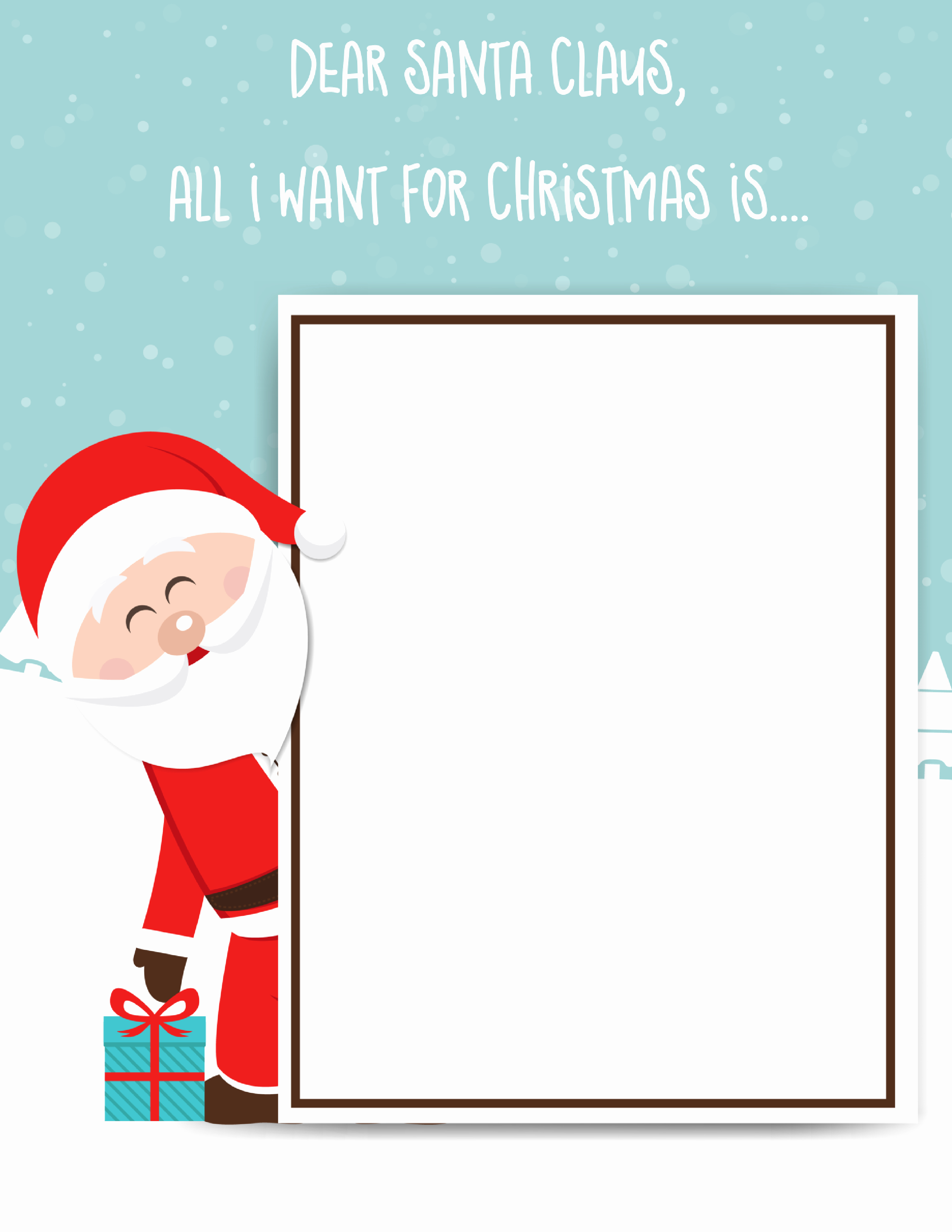 Letter to Santa Claus Templates Fresh Santa Claus Letter Free Printable for Kids