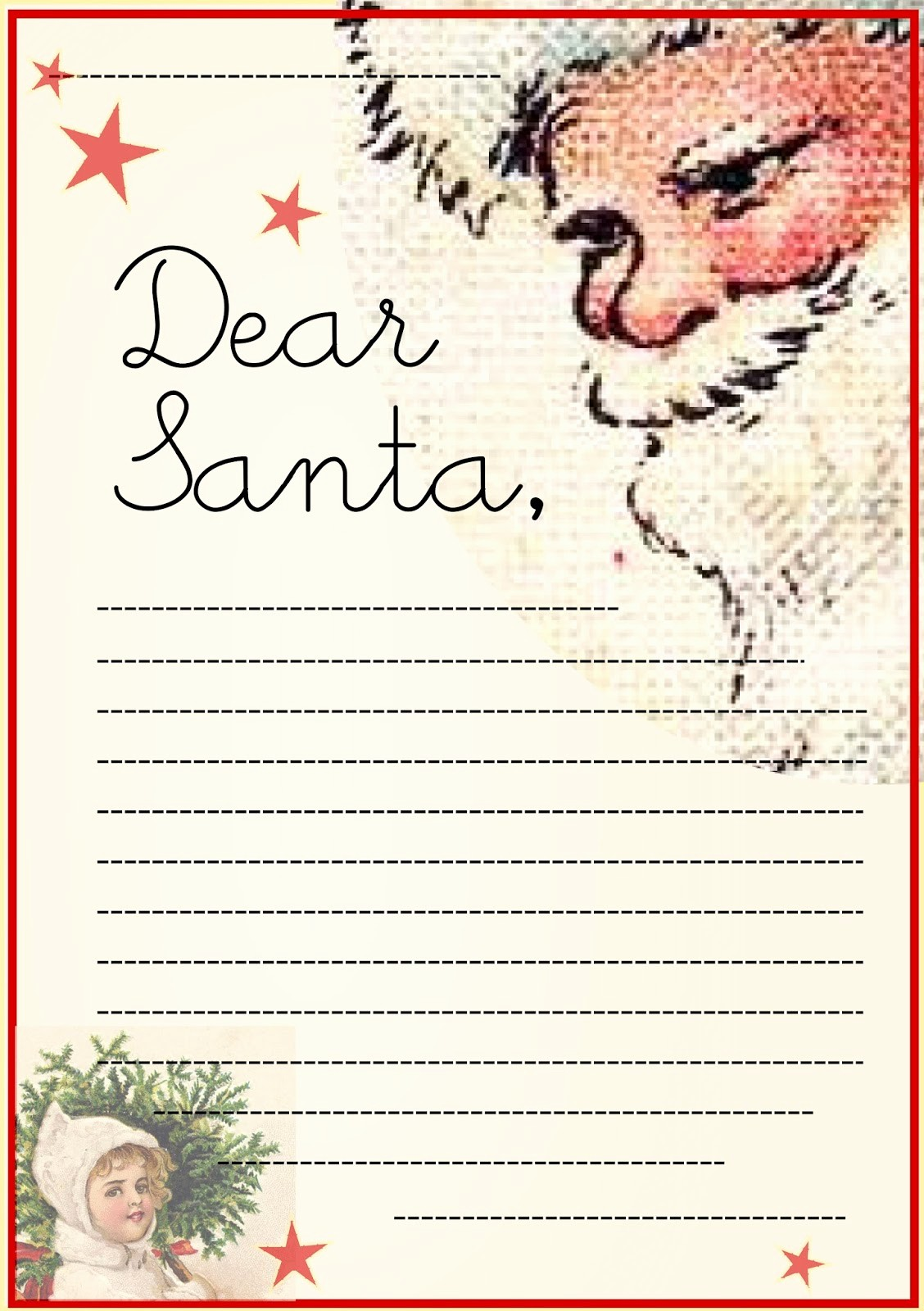 Letter to Santa Claus Templates Luxury Free Printable Letter to Santa Claus Template for Children