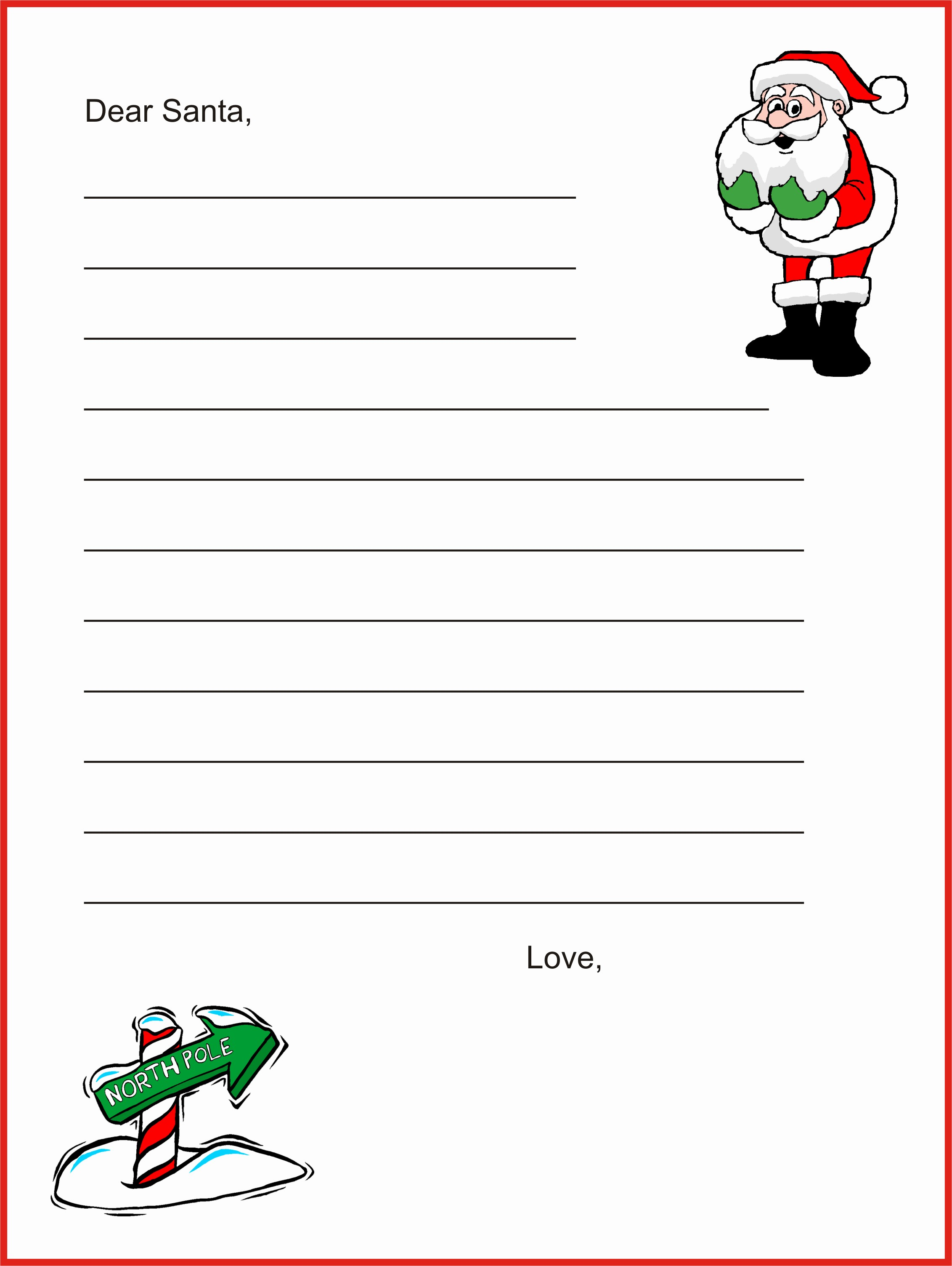Letter to Santa Claus Templates New Dear Santa Letter Template Christmas Letter Tips