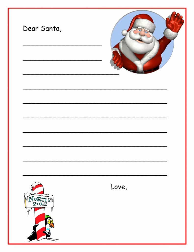 Letter to Santa Claus Templates Unique Letters From Santa Templates