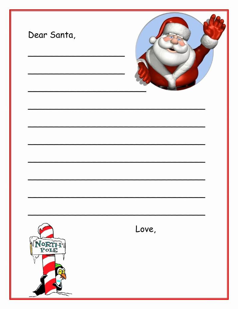 Letter to Santa Claus Templates Unique Letters From Santa Templates