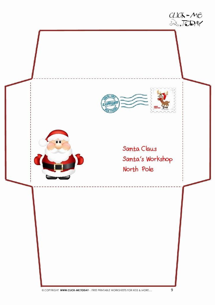 Letter to Santa Claus Templates Unique Printable Letter to Santa Claus Envelope Template Cute