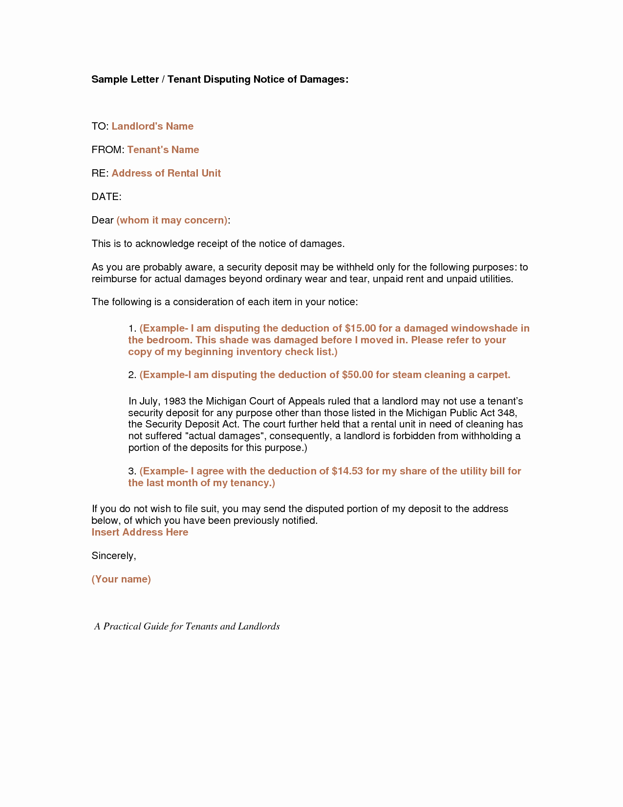 Letter to Tenant About Repairs Elegant Ez form for Rental Apartmentml