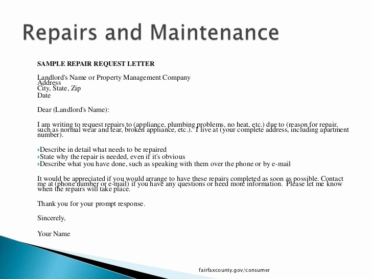 Letter to Tenant About Repairs Elegant What Tenants Need to Know In Fairfax County