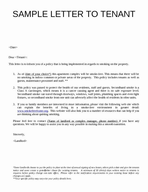 Letter to Tenant About Repairs Fresh Sample Letter to Tenants Google Search