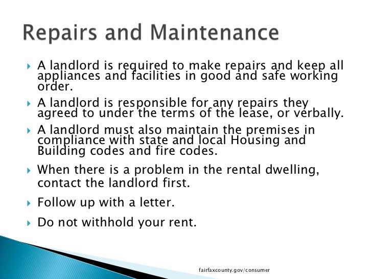 Letter to Tenant About Repairs Lovely What Tenants Need to Know In Fairfax County