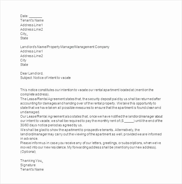 Letter to Tenant About Repairs Lovely Writing Landlord Letters for Repair Template Intent to