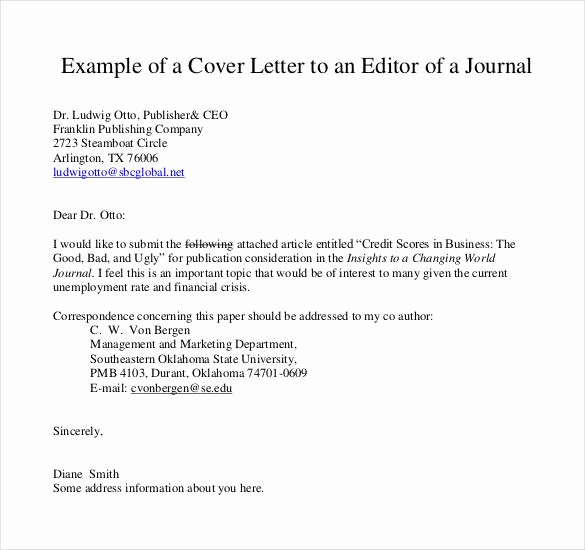 Letter to the Editor Templates Awesome 51 Simple Cover Letter Templates Pdf Doc