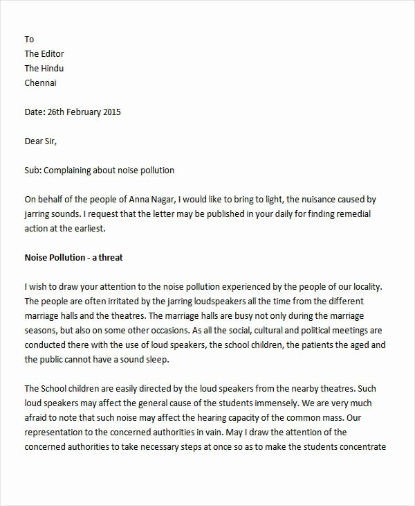 Letter to the Editor Templates Beautiful Example Plaint Letters to the Editor
