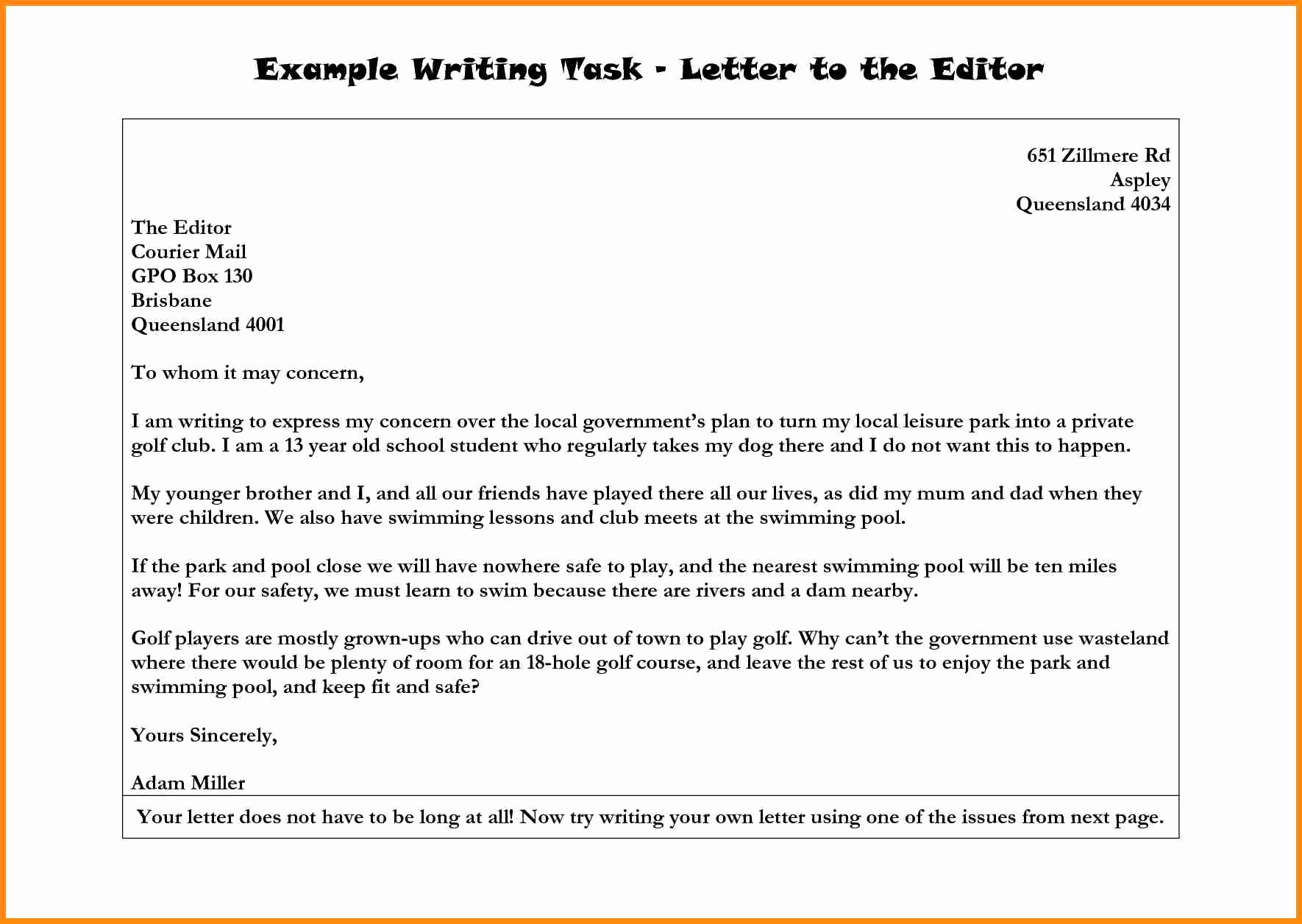 Letter to the Editor Templates Fresh Ideas 10 Examples Letters to the Editor A