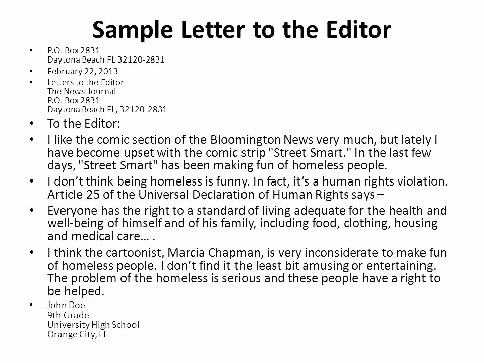 Letter to the Editor Templates Fresh Letter to the Editor Template Cover Letter to the