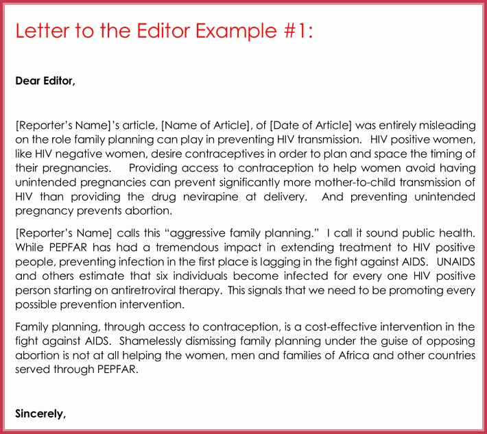 Letter to the Editor Templates Fresh Letter to the Editor Template for Students Letter to the