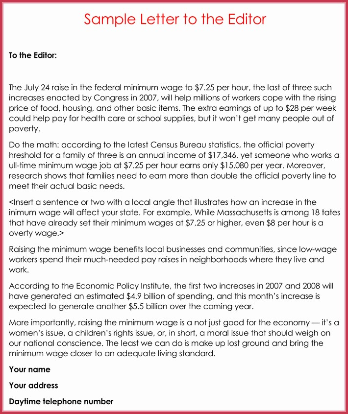 Letter to the Editor Templates Lovely Letters to the Editor Template Letter to the Editor
