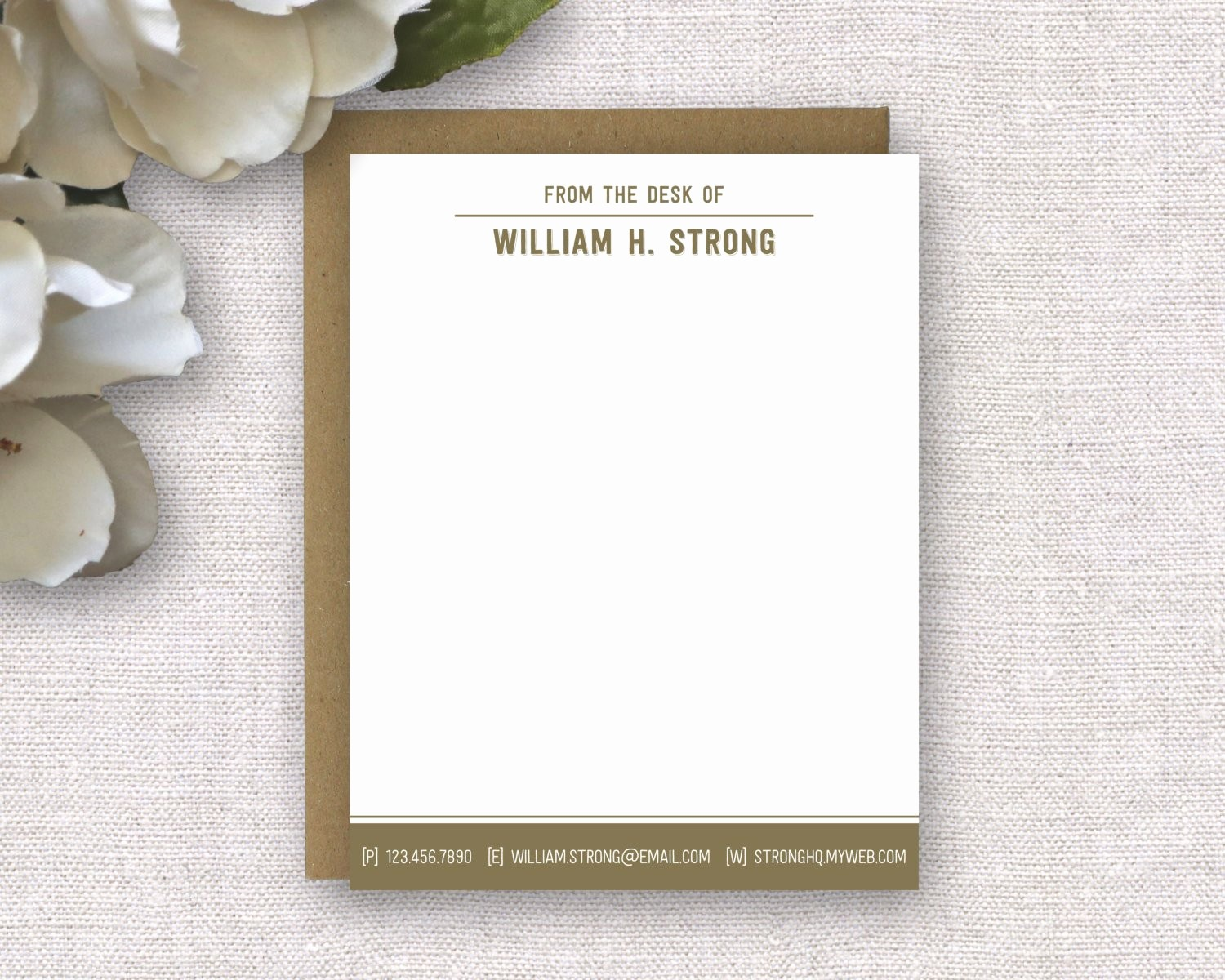 Letterhead From the Desk Of Awesome Personalized Stationery Personalized Stationery for Men