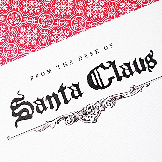 Letterhead From the Desk Of Beautiful Letter From Santa Stationery
