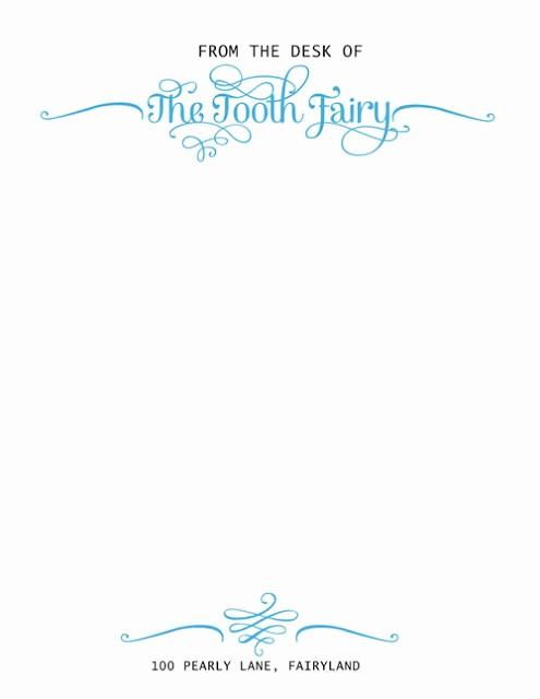 Letterhead From the Desk Of Elegant Things I Do when I M Bored tooth Fairy Letterhead