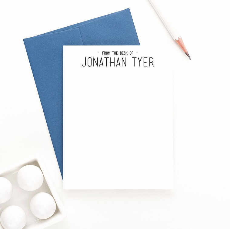 """Letterhead From the Desk Of Fresh """"from the Desk """" Personalized Stationery Set Modern"""