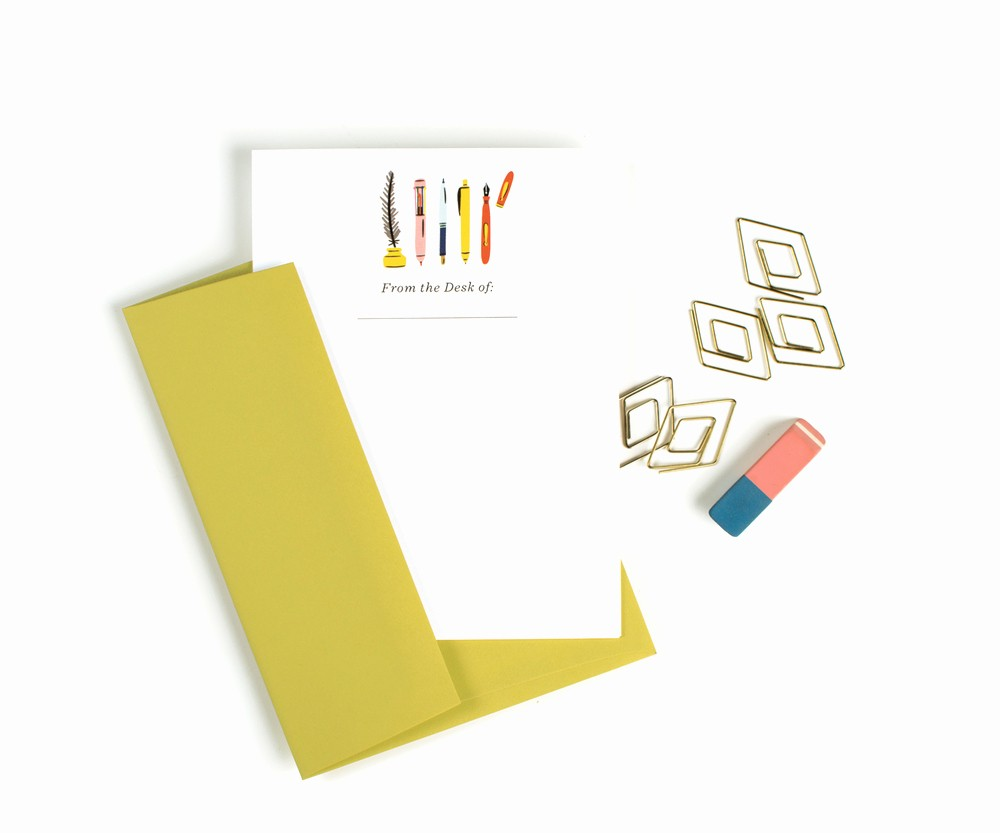 Letterhead From the Desk Of Inspirational From the Desk 12 Pack Flat Stationery — Little Low