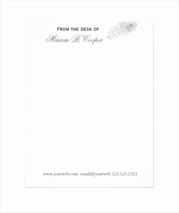 Letterhead From the Desk Of Lovely 37 Professional Letterhead Templates Free Word Psd Ai