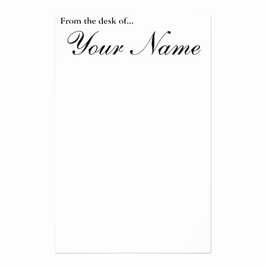 Letterhead From the Desk Of Luxury From the Desk Of Stationery