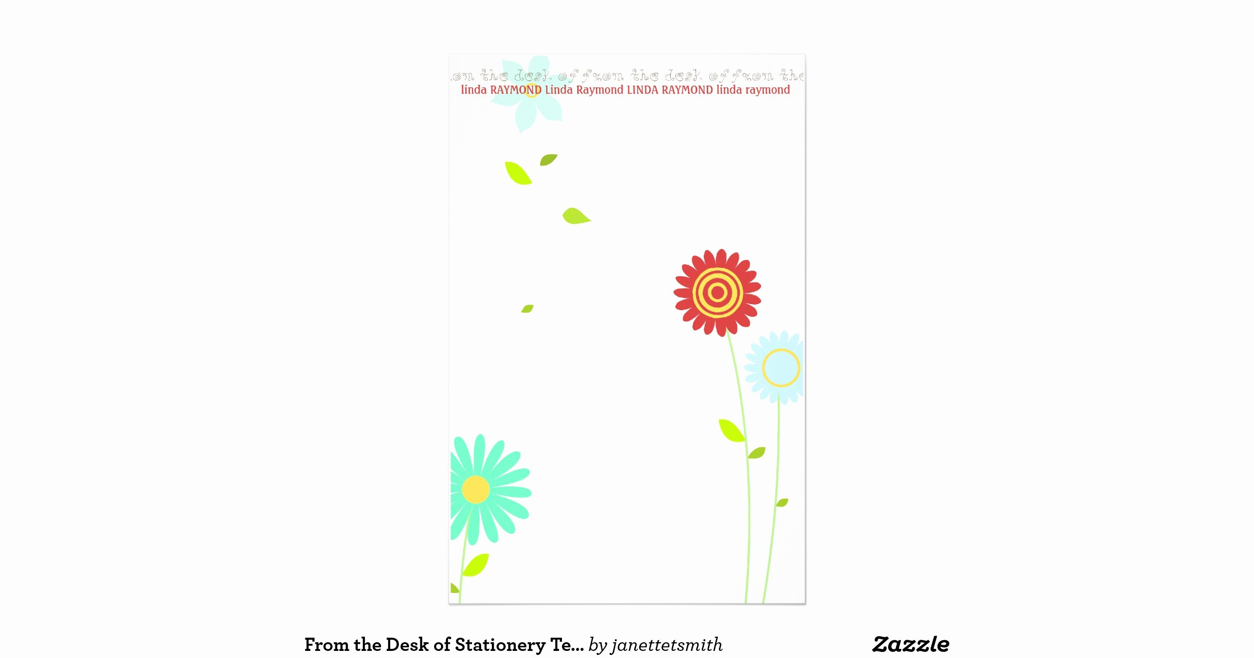 Letterhead From the Desk Of Luxury From the Desk Of Stationery Template