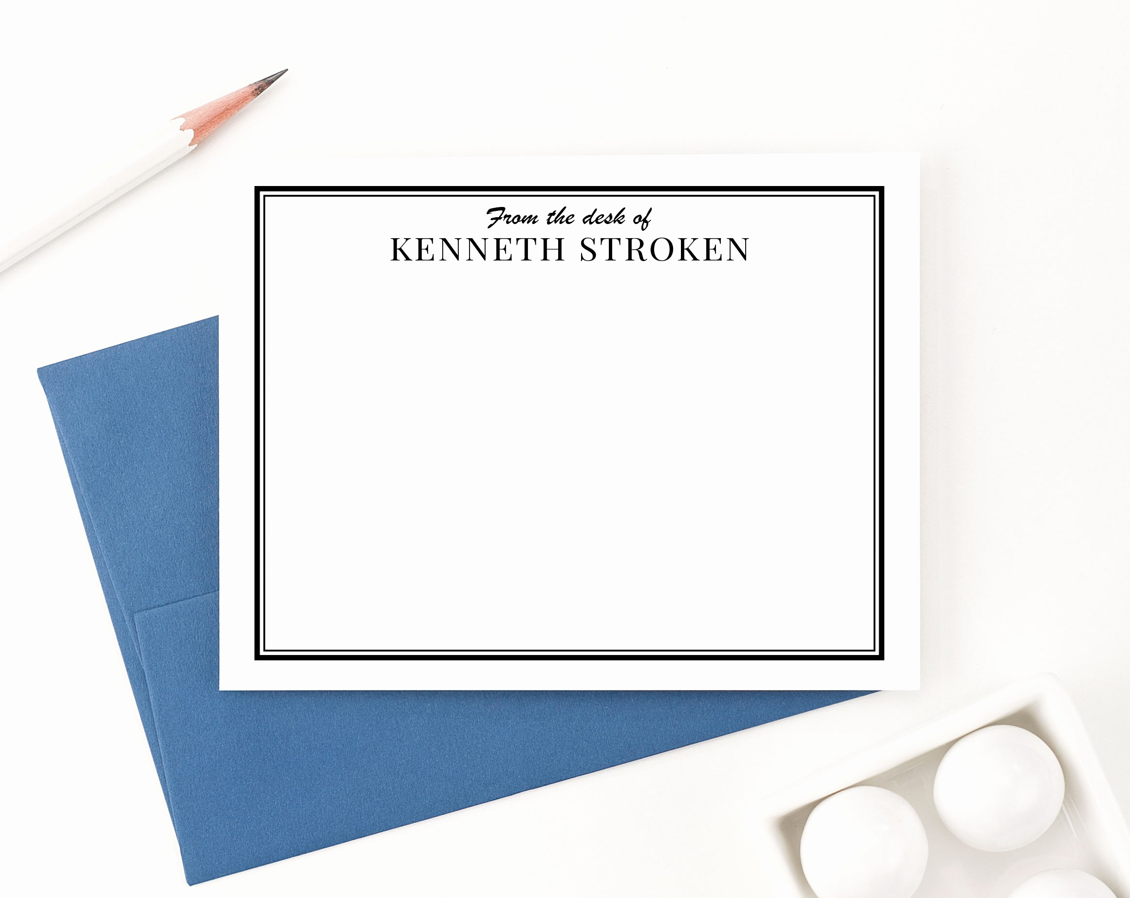 Letterhead From the Desk Of Luxury Personalized From the Desk Stationery Note Cards for