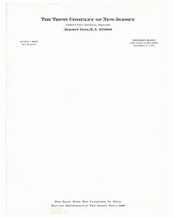 Letterhead From the Desk Of New 67 New Jersey Trust Letterhead Neche Collection