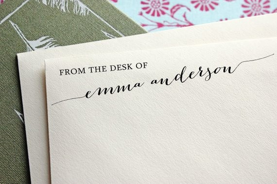 Letterhead From the Desk Of New From the Desk Custom Stamp Stationery Stamp