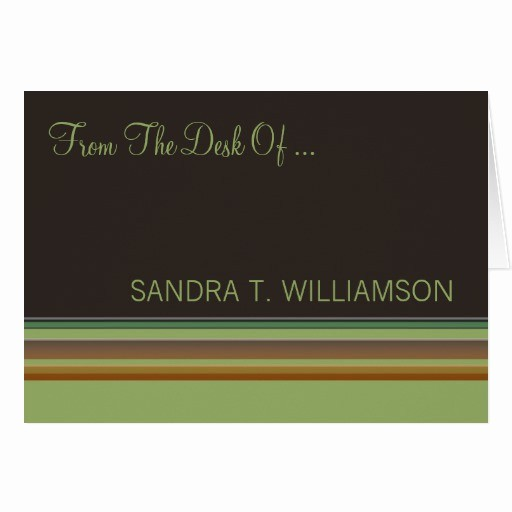Letterhead From the Desk Of New From the Desk Stripes Stationery Note Card