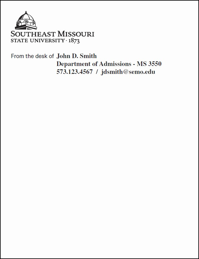 Letterhead From the Desk Of Unique From the Desk Stationary Samples Hostgarcia